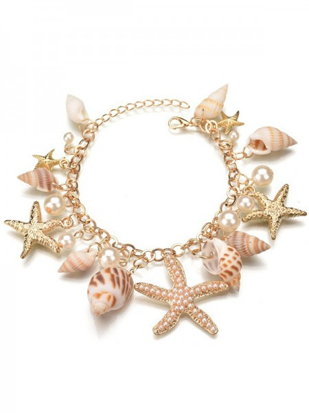 Gorgeous Alloy With Pearl Necklaces