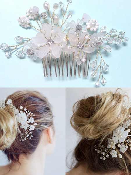 Very Czech Pearl Wedding Headpieces