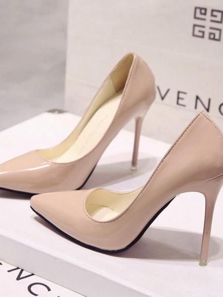 Patent Leather Stiletto Heel Closed Toe High Heels