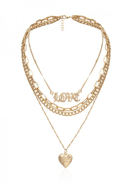 Graceful Alloy With Love Necklaces