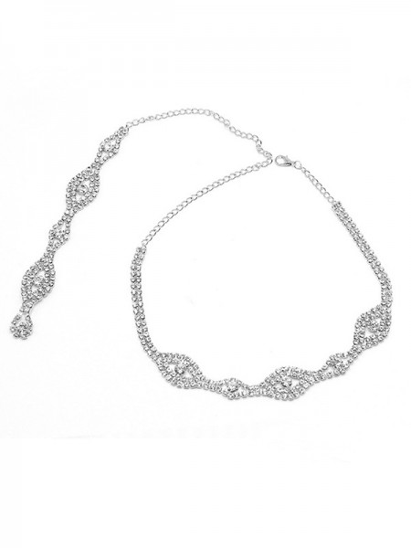 Elegant Crystal Necklaces For Bridal
