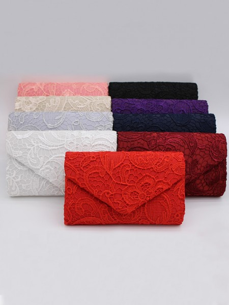 Pretty Lace Flower Handbags