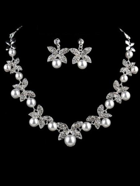 Charming Alloy With Pearl Jewelry
