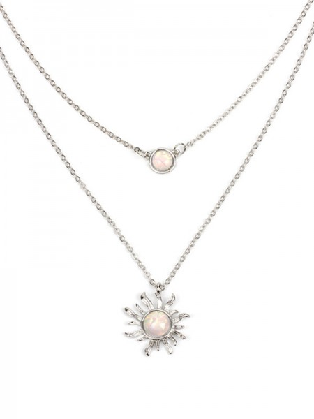 Occident Simple Necklaces With Sun