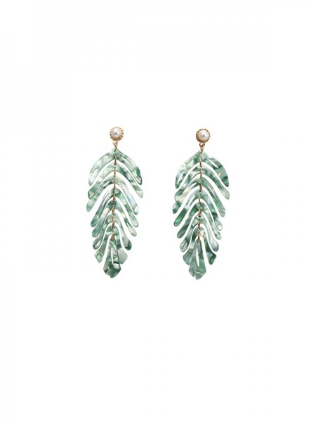 Fancy Alloy With Leaf Earrings