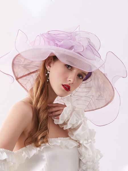 Ladies' Charming Organza Silk Flower Adjustable Kentucky Derby Hats/Tea Party Hats