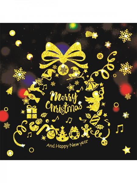 Christmas Elegant PVC Static Stickers