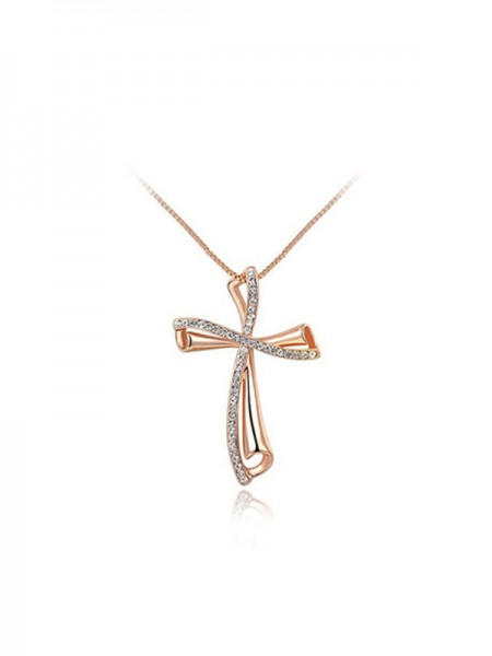 Fashion Alloy With Rhinestone Necklaces For Ladies