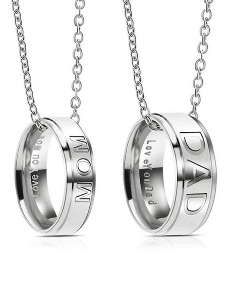 Simple Titanium Hot Sale Necklaces For Mom And Dad