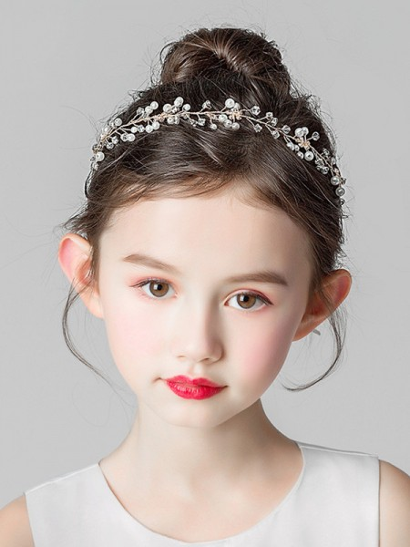 Classic Alloy With Imitation Pearl Headbands