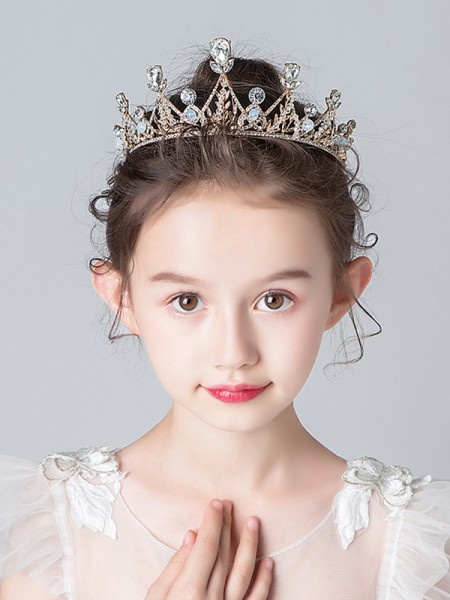 Luxurious Alloy With Rhinestone Tiaras