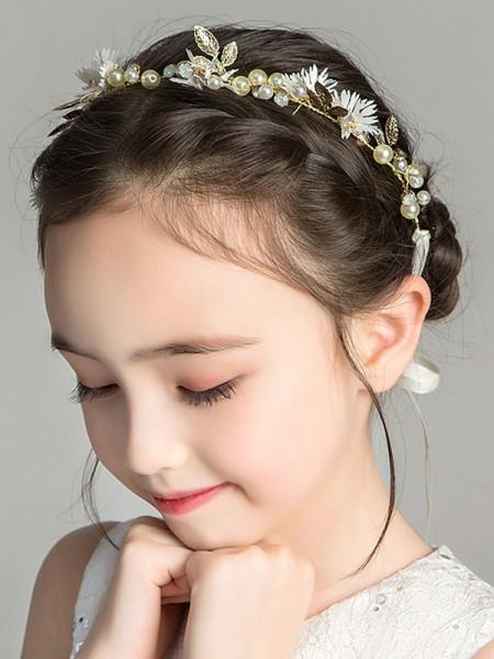 Stunning Alloy With Imitation Pearl Headbands