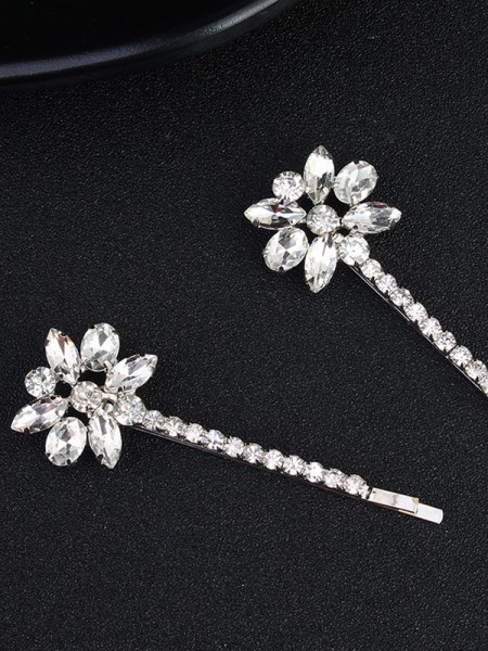 Pretty Alloy With Rhinestone Hairpins(2 Pieces)