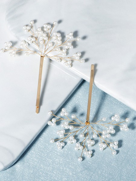 Elegant Alloy With Imitation Pearl Hairpins(2 Pieces)