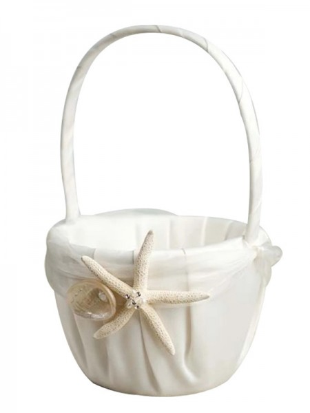 Advanced Flower Basket In Cloth With Starfish