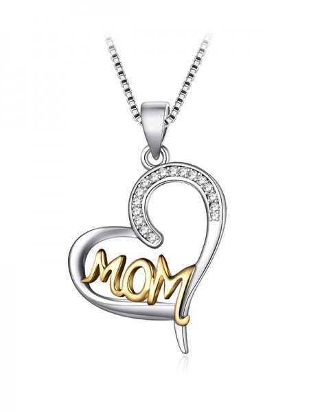 Chic S925 Silver With Zircon Necklaces For Mother