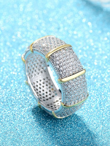 Luxurious Copper With Rhinestone Hot Sale Rings
