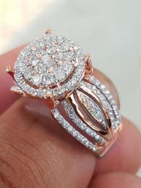 Brilliant Alloy With Rhinestone Hot Sale Wedding Rings