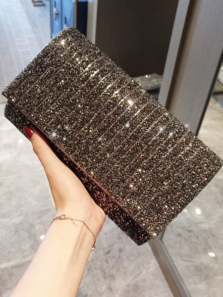 Graceful PU Evening/Party Handbags With Sequin