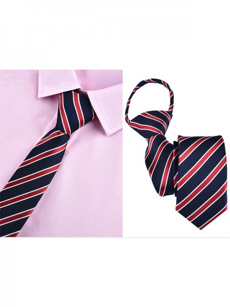 Formal Striped Polyester Tie