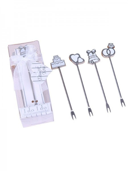 Wedding Gifts-Lovely Stainless Steel Fruit Forks(5 Pieces)