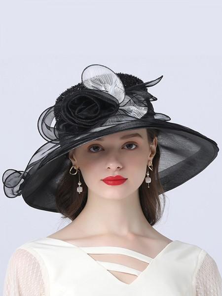 Ladies' Exquisite Organza Flower Kentucky Derby Hats/Tea Party Hats