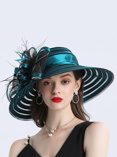 Ladies' Special Satin Flower Kentucky Derby Hats/Tea Party Hats