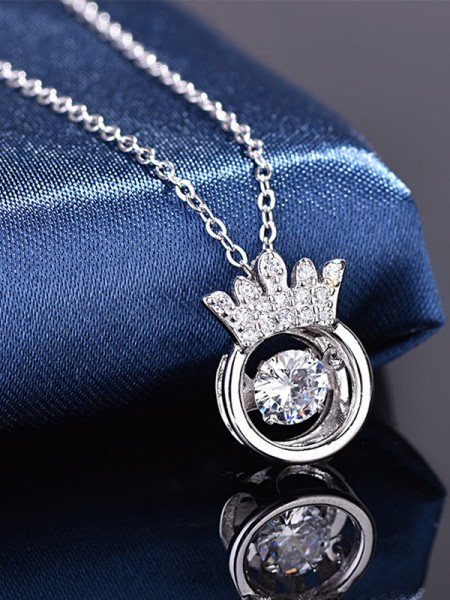 Graceful S925 Silver With Zircon Hot Sale Necklaces