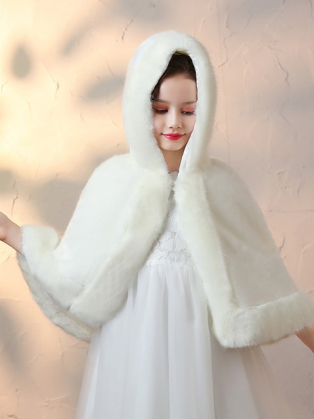 Comfy Faux Fur Flower Girl Wraps