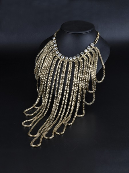Fancy Alloy With Rhinestone Hot Sale Chokers