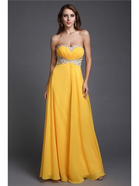 A-Line/Princess Sweetheart Chiffon Dress