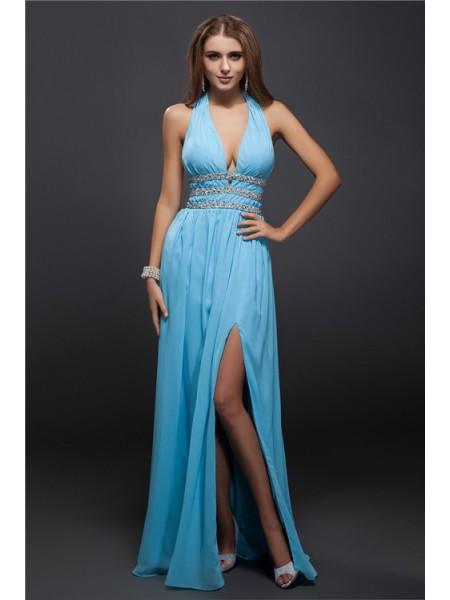 Sheath/Column V-neck Chiffon Dress