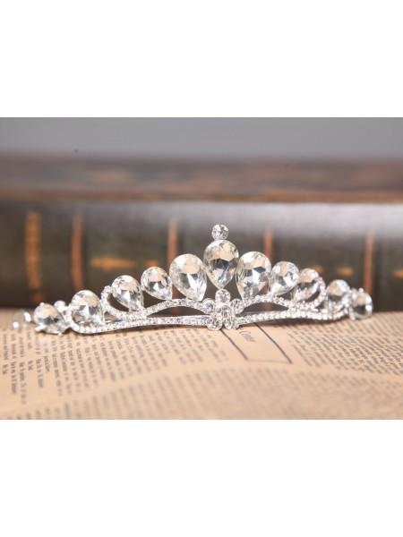 Graceful Alloy Clear Crystals Wedding Headpieces