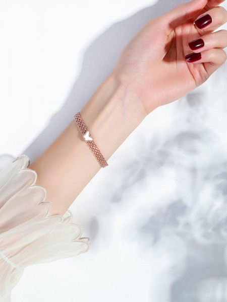 Shinning Titanium With Butterfly Hot Sale Bracelets