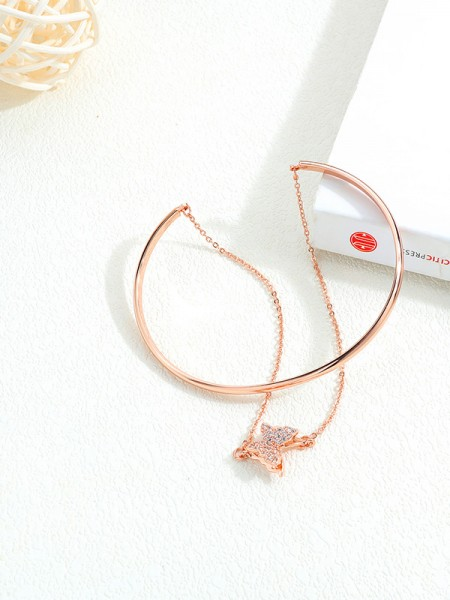Fashionable Titanium With Butterfly Bracelets