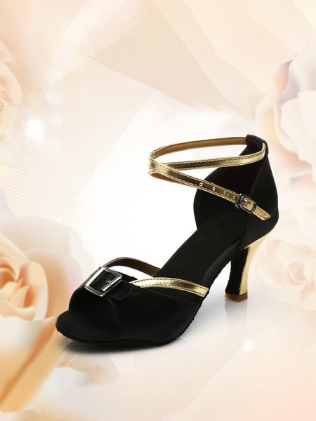 Women's PU Peep Toe Kitten Heel With Buckle Sandals