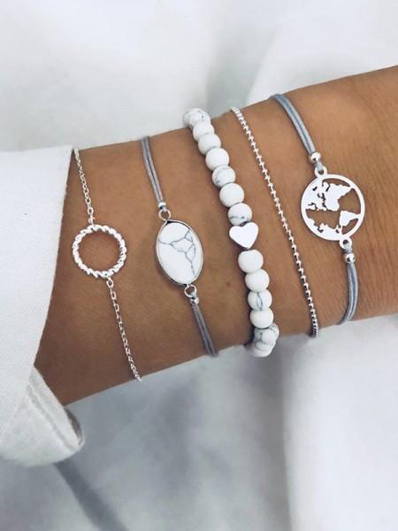 Fine Plastics Resins Hot Sale Bracelets(5 Pieces)