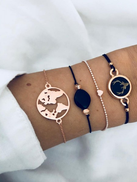 Perfect Alloy With Deer Hot Sale Bracelets(4 Pieces)