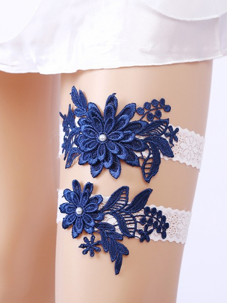 Glamorous Bridal/Feminine Lace With Applique Garters