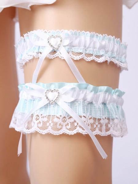 Brilliant Bridal/Feminine Lace With Rhinestone Garters