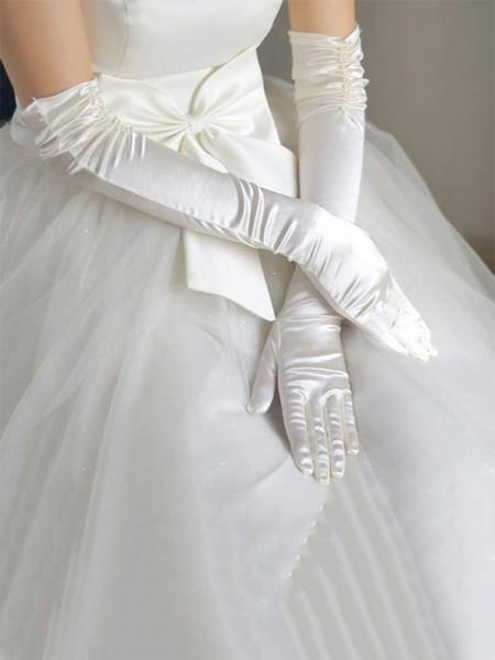 Simple Cloth Wedding Gloves