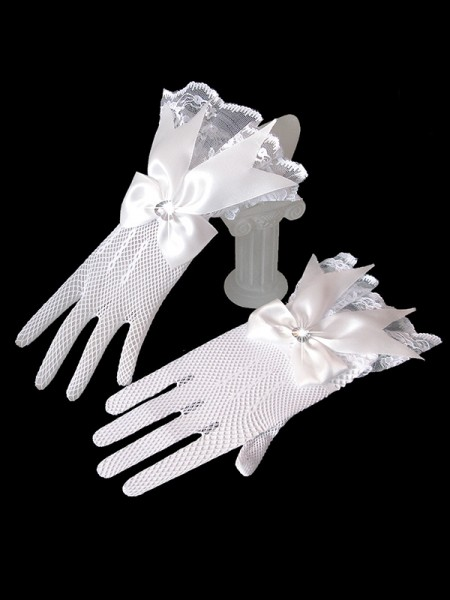 Attractive Tulle Bowknot Wedding Gloves