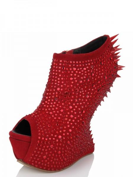 Peep Toe Wedge Heel Suede Platform SMA03420LF