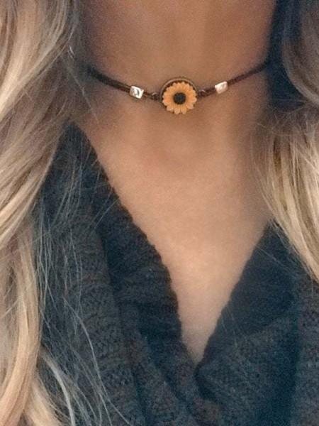 Charming Daisy Short Alloy Necklace/Bracelets