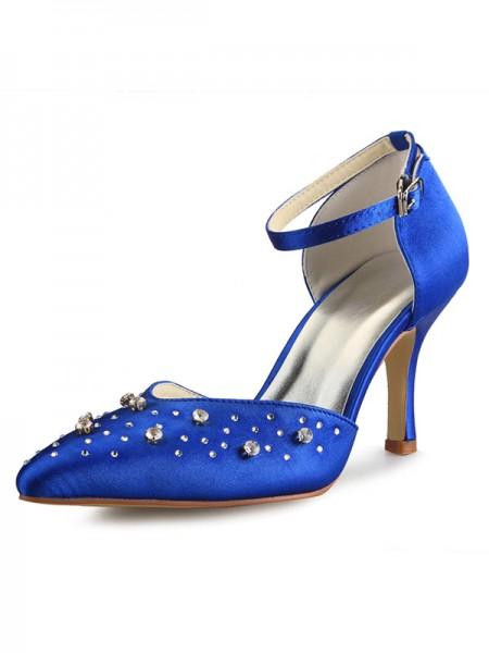 Satin Cone Mary Jane High Heels SW0A31361I