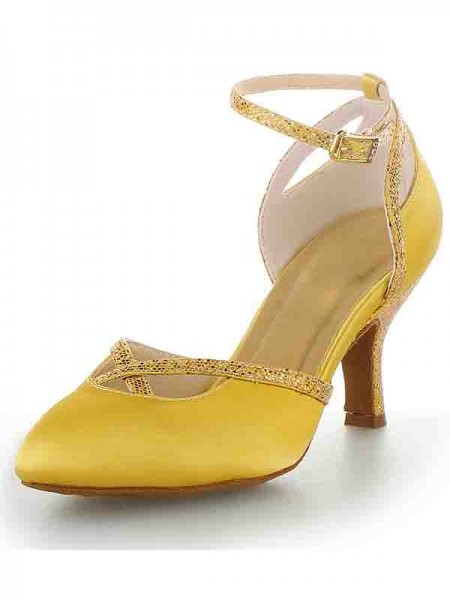Cone Satin With Buckle High Heels SW11562411I