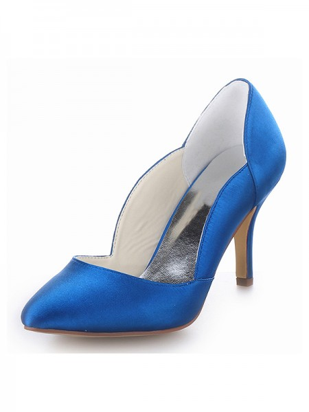 Satin Cone High Heels SW18390B201I