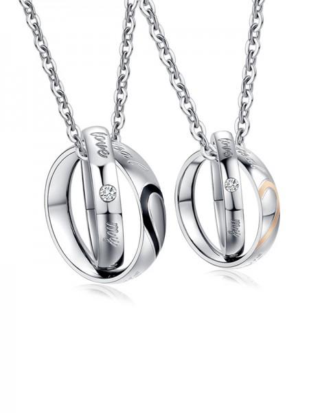 Graceful Titanium Hot Sale Necklaces For Couples