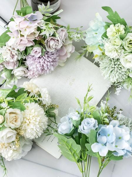 Fashion Free-Form Silk Flower Bridal Bouquets
