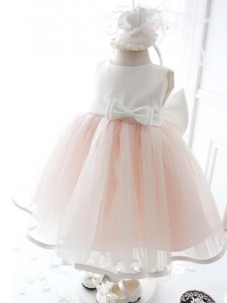 Ball Gown Jewel Bowknot Long Organza Dress